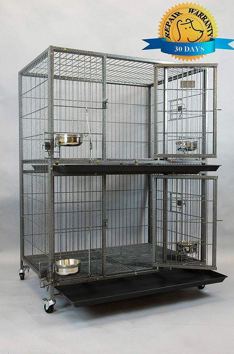 Pet Two Tier Heavy Duty Cage - catrin