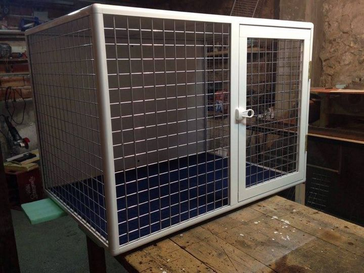 Aluminum cage for  dogs - catrin