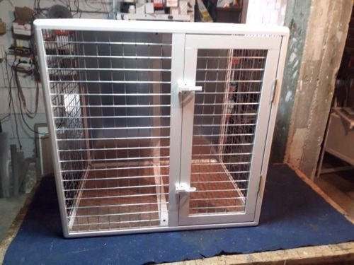 Aluminum cage for  dogs. Color-white - catrin
