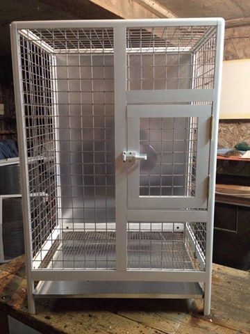 Aluminum cage for big parrots - catrin