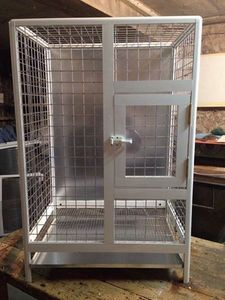 Aluminum cage for big parrots