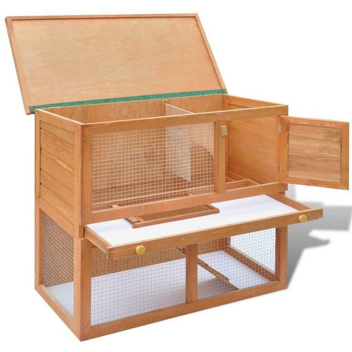 Wooden Rabbit Hutch Cage Chicken - catrin