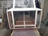 Aluminum cage for  dogs.