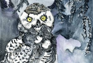 Snowy Owl - Art Aroma by Mehak Mittal