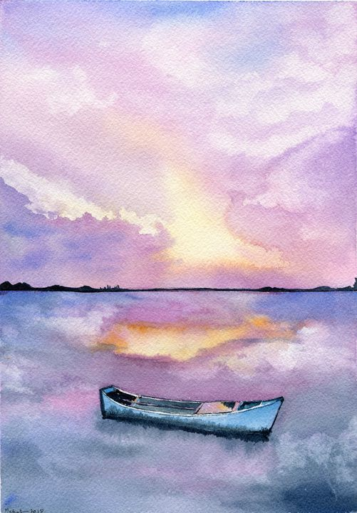 Alone at sea - Art Aroma by Mehak Mittal