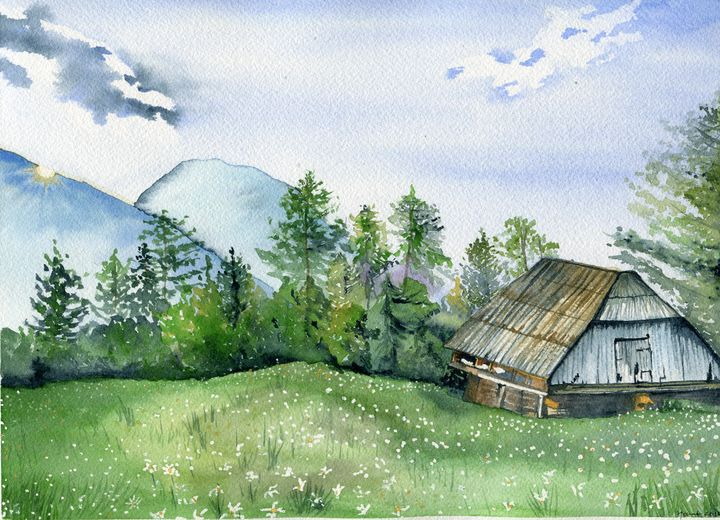 Cottage in the woods... - Art Aroma by Mehak Mittal