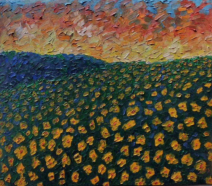 Sunset Flowers - Almas Gallery