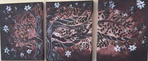 Twisted  tree blossom painting