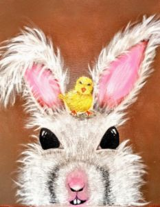 Rabbit and the little chick - Jay  mental art.