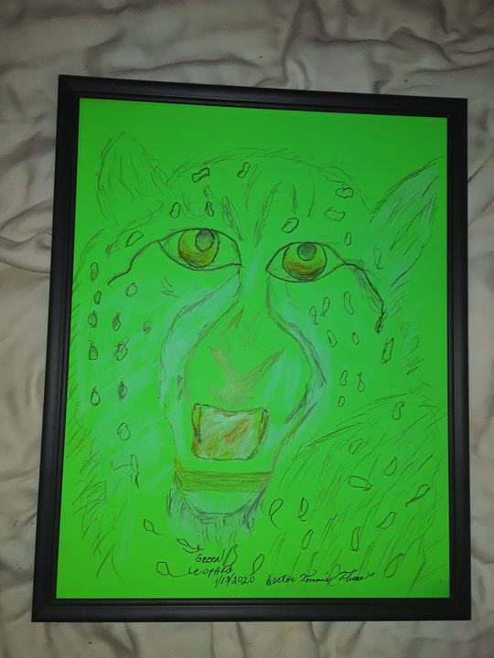 GREEN LEOPARD - BEYOND THE OUTER LIMITS EXQUISITE ART