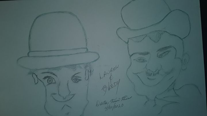 LAUREL AND HARDY - BEYOND THE OUTER LIMITS EXQUISITE ART