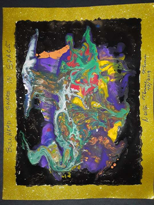 BULLSNAKE IN SPACE - BEYOND THE OUTER LIMITS EXQUISITE ART