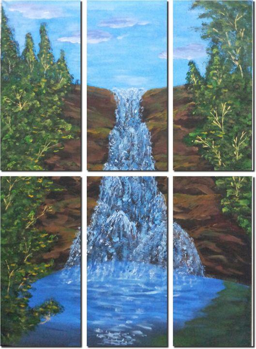Divided Waterfall - Zebs Artbeat