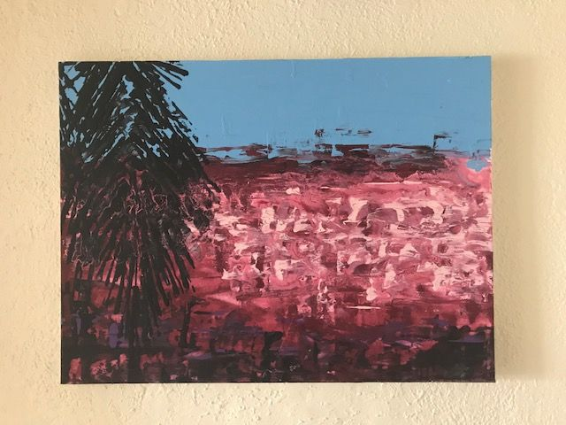 Island Sunset - Art by Anne Miles
