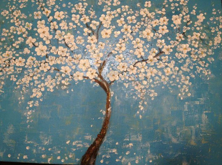 cherry tree painting - art58