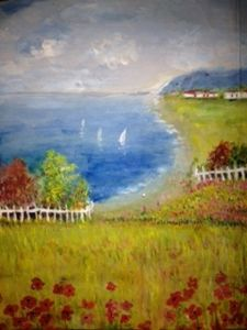 painting original summer holiday