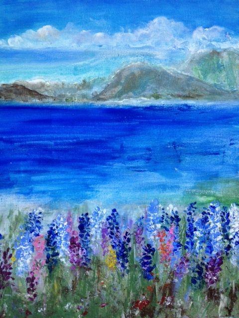 orignal painting summer holiday - art58