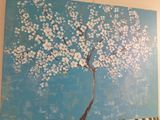 cherry tree with acrylic