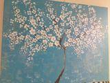acrylic on canvas ,cherry tree