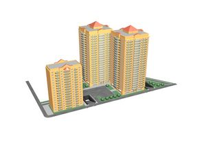 Architectural projects, 3d models of