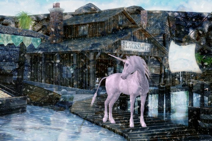 Snowy Unicorn - DigiScrapCafe
