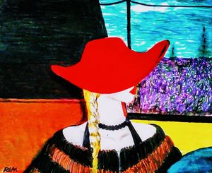 Woman In The Red Hat