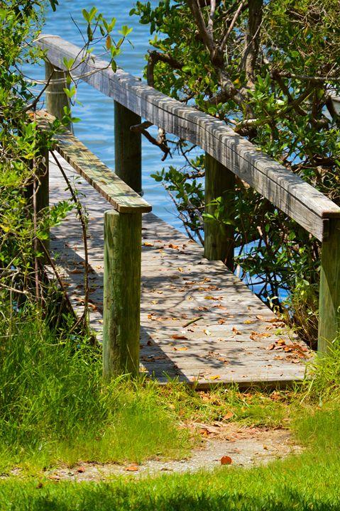 Bridge to quiet lake - Hartshorn Studios