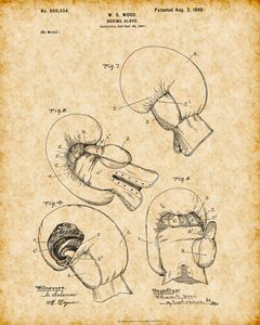 Vintage Boxing Glove Patent Print - Crystal Crafts It