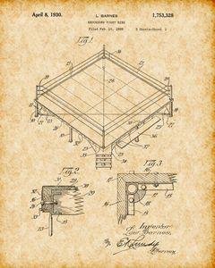 Vintage Boxing Ring Patent Print