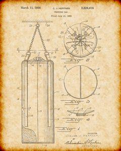 Vintage Heavy Bag Patent Print