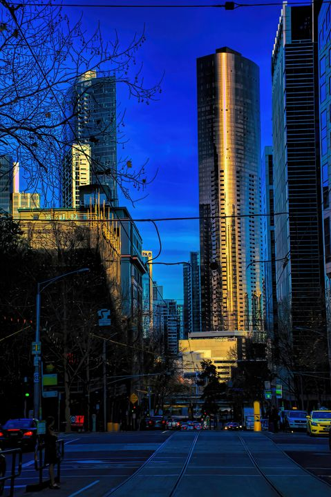 Reflections In A Downtown Sunset - Diana Mary Sharpton Photography