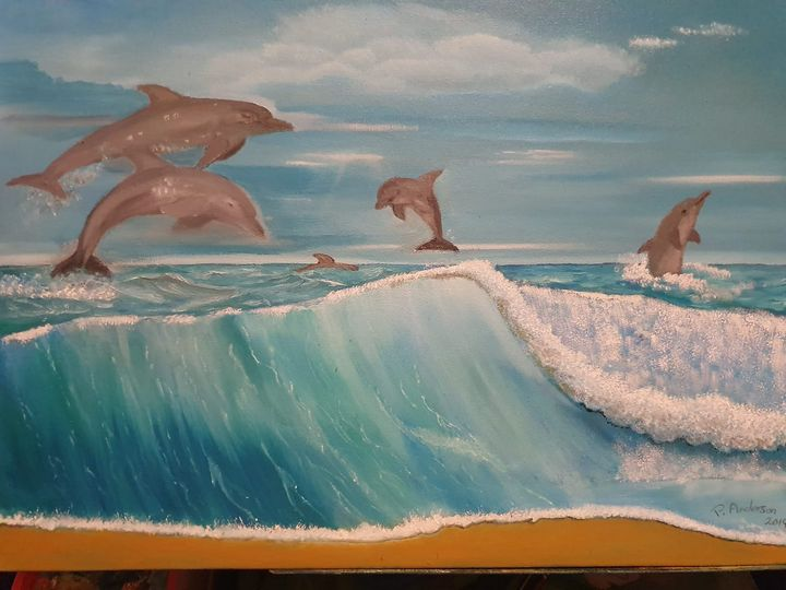 dolphins playground - pauls drawing and paintings