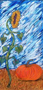 Sunflower and pumpkin