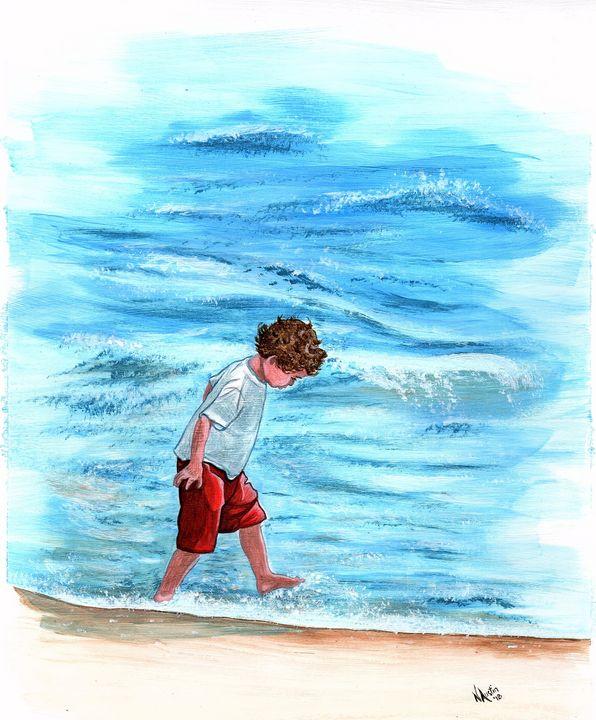 Surf Skipping - Nancy Austin Art