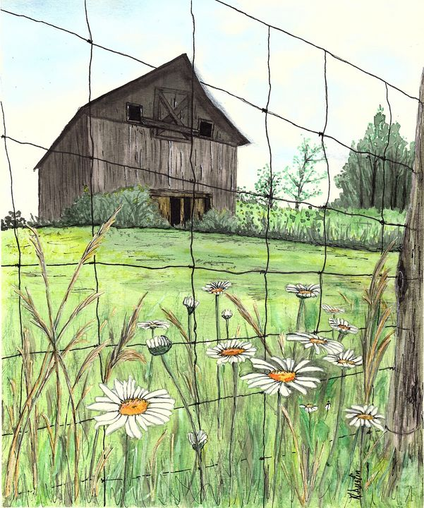 Daisy Barn - Nancy Austin Art