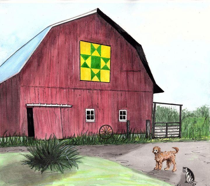 Lorna's Barn - Nancy Austin Art