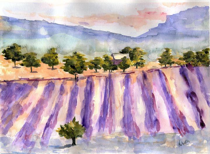 Lavender Field - Nancy Austin Art
