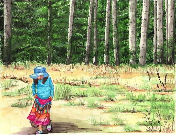 Once Upon a Time on a Sunny Day - Nancy Austin Art