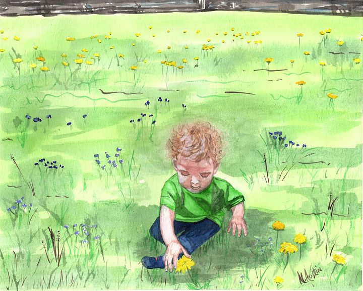 Discovering dandelions - Nancy Austin Art