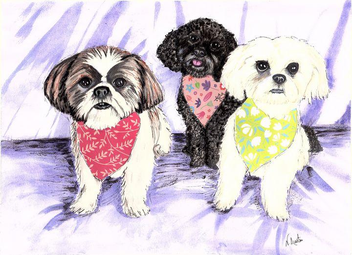 Betsy, Samantha, Precious - Nancy Austin Art