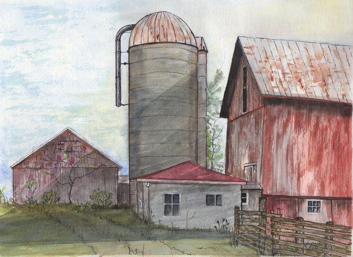 A Working Farm - Nancy Austin Art