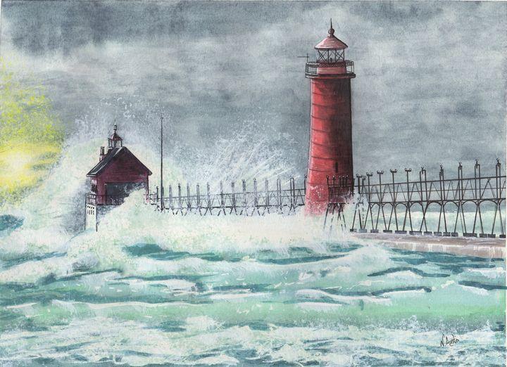Grand Haven Lighthouse - Nancy Austin Art