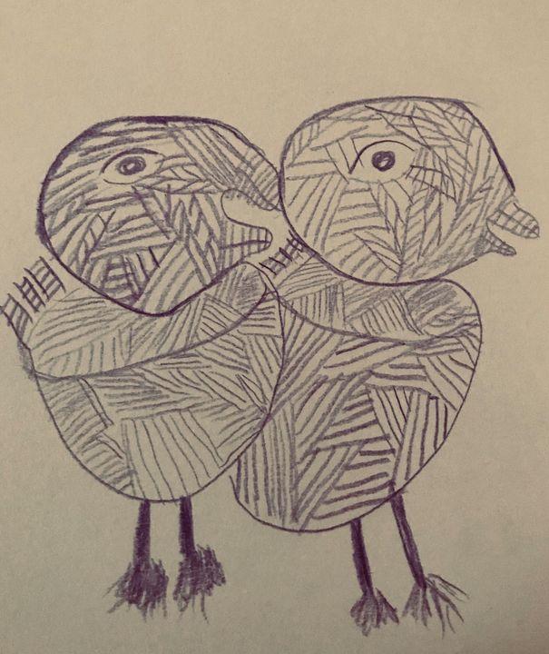 Two chicks - Martha Parmar Art