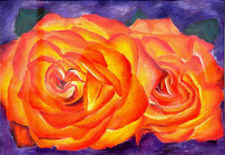 Pastel Orange Roses - Hadley Smith