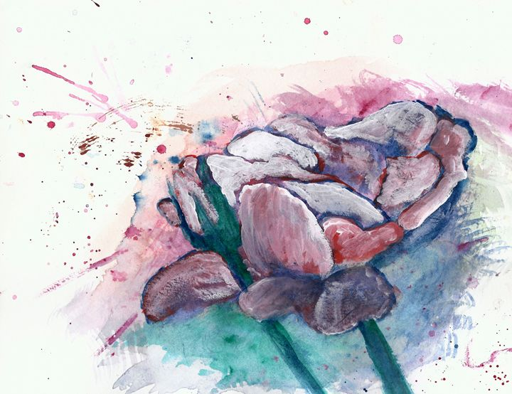 Flower and Bud 2 - Sage Oelke's Artwork