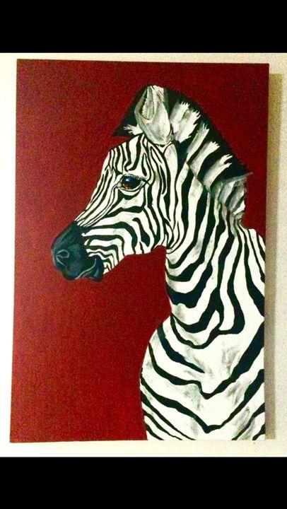 Zebra Painting - Acrylic on Canvas - Missy Maree Art