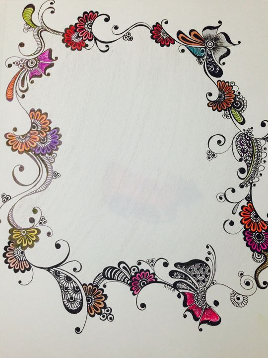 Traditional floral patteren - Arfa's art