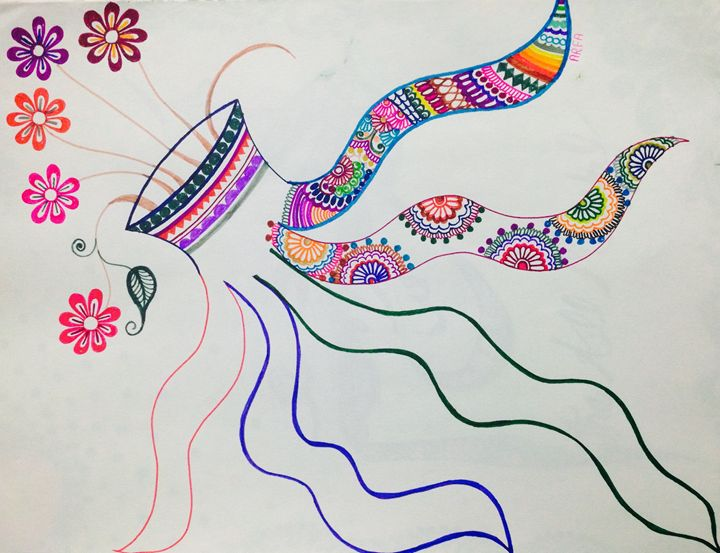Splash of colors - Arfa's art