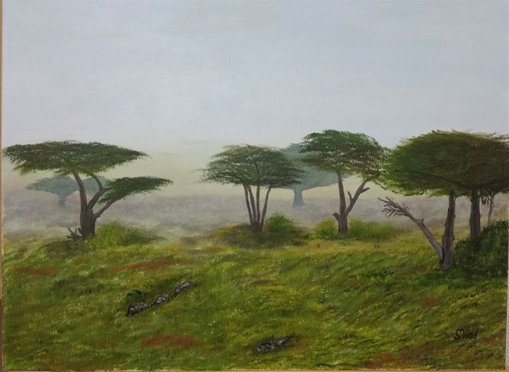Foggy morning in Pacifica, CA - Paint by Vlad