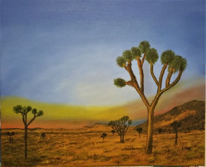 Jodhua trees park - Paint by Vlad